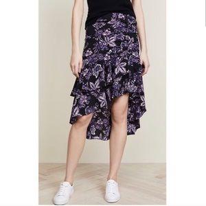 Veronica Beard Dane Skirt Black Multi Purple